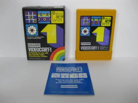 Videocart-1 (CIB) Tic-Tac-Toe/Shooting/Doodle - Fairchild Game