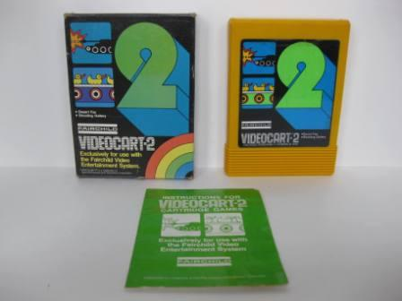 Videocart-2 (CIB) Desert Fox/Shooting Gallery - Fairchild Game