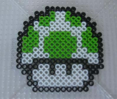 1-UP Mushroom (Super Mario Bros.) - Custom Fuse Bead Set