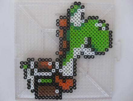 Yoshi (Green) (Super Mario World) - Custom Fuse Bead Set