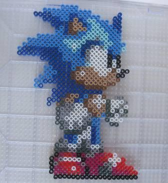 Sonic the Hedgehog (Sonic the Hedgehog) - Custom Fuse Bead Set