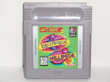 Arcade Classic #2: Centipede and Millipede - Gameboy Game