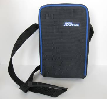 GBA Large Storage Case (Black/Blue) - Gameboy Adv. Accessory