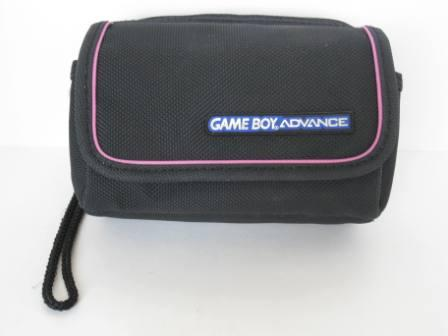 GBA Storage & Travel Case (Black/Pink) - Gameboy Adv. Accessory