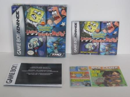 SpongeBob SquarePants: Lights Camera.. (BOX & MANUAL ONLY) - GBA