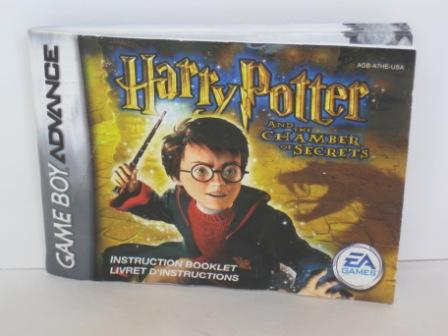Harry Potter and the Chamber of Secrets - Gameboy Adv. Manual