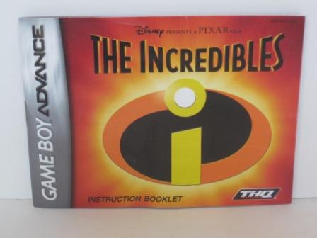 Incredibles, The - Gameboy Adv. Manual