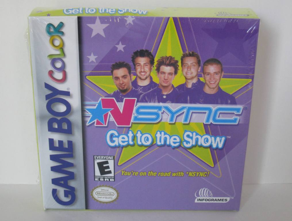 NSYNC: Get to the Show (SEALED) - Gameboy Color Game