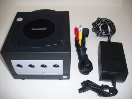 Gamecube System (Black) w/ AV Cable & Power Supply