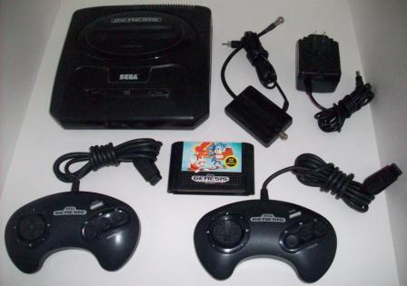 Genesis System (MK-1631) w/ Sonic 2, 2 Ctrl, RF, Power Supply