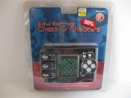 2-in-1 Electronic Chess & Checkers (SEALED) - Handheld Game