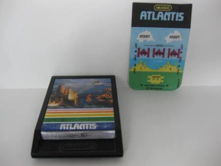 Atlantis w/ overlay - Intellivision Game