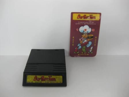 Burgertime (yellow label) w/ overlay - Intellivision Game