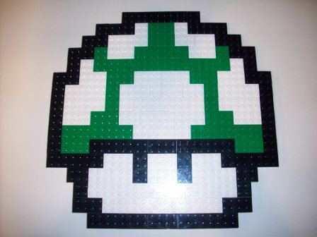 Green 1UP Mushroom - Custom Lego Set