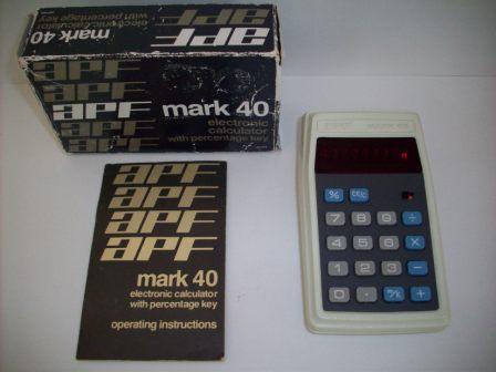APF Mark 40 Electronic Calculator with Percentage Key (CIB)