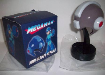 Mega Man Mini Helmet Replica w/ Stand (Grey Bubble Lead) (CIB)