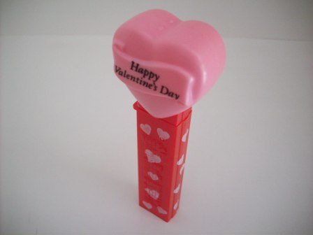 Pez Dispenser - Happy Valentines Day (no feet) - Pink Heart