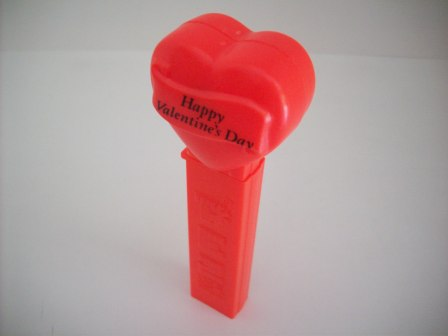 Pez Dispenser - Happy Valentines Day (no feet) - Red Heart