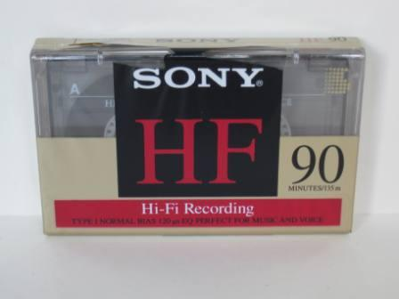 Sony HF 90 Minute Hi-Fi Recording Type I Cassette Tape (SEALED)