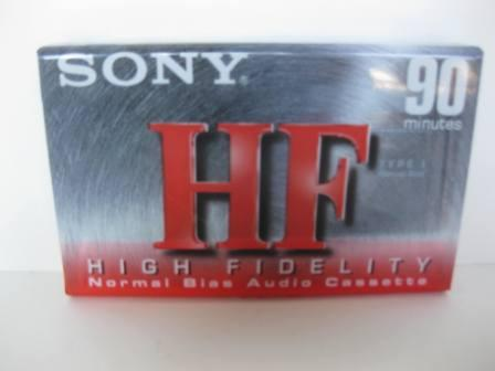 Sony HF 90 Minute High Fidelity Audio I Cassette Tape (SEALED)