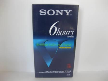 Sony VHS 6 Hour Blank Videotape (SEALED)