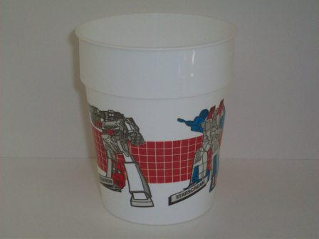 Transformers G1 Megatron and Starscream Plastic 6oz Cup