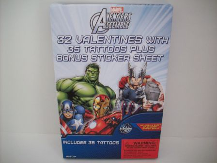 Valentines - Avengers Assemble - 32 Count (NEW)