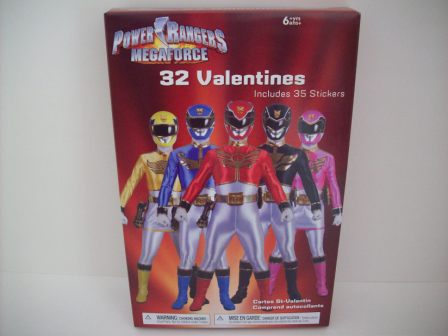 Valentines - Power Rangers Megaforce - 32 Count (NEW)