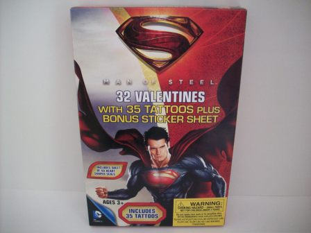 Valentines - Superman Man of Steel - 32 Count (NEW)