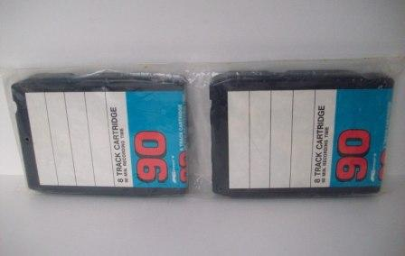 8-Track Blank Cartridges (2-Pack) (SEALED) - 8-Track Tape