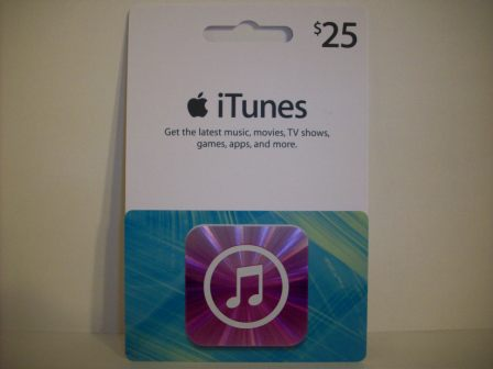 $25 Apple iTunes Gift Card