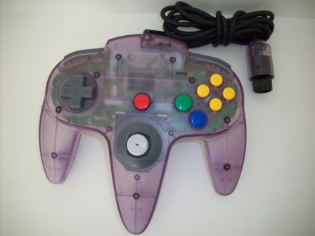 N64 Controller (Transparent Purple) - N64 Accessory