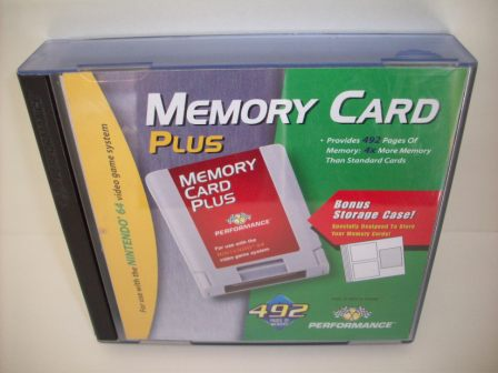 N64 Memory Card Plus (3 Cards w/ Case) - N64 Accessory
