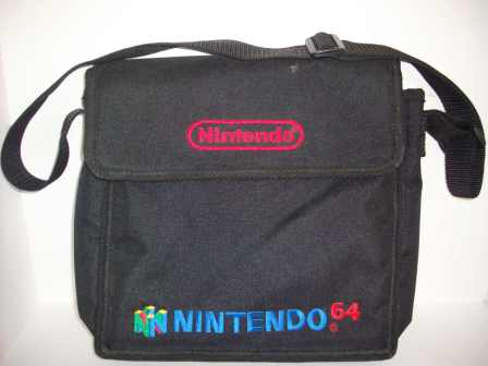 Storage & Travel Bag Carrying Case (Black) - N64 Accessory