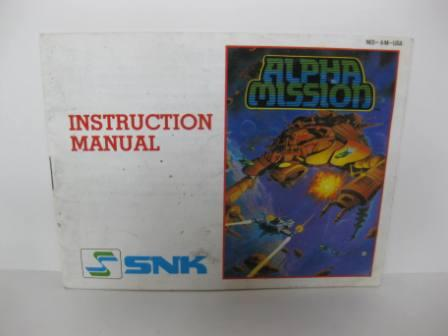 Alpha Mission - NES Manual