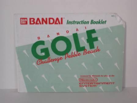 Bandai Golf: Challenge Pebble Beach - NES Manual