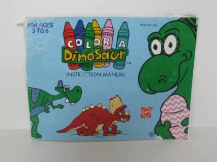 Color A Dinosaur - NES Manual