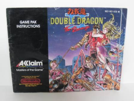 Double Dragon 2: The Revenge - NES Manual