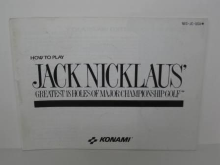 Jack Nicklaus Greatest 18 Holes - NES Manual