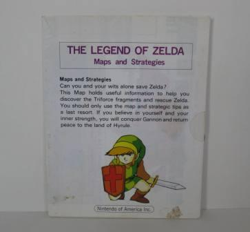 Legend of Zelda, The (Map ONLY) - NES Manual