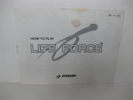 Life Force - NES Manual