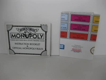 Monopoly w/ Poster - NES Manual