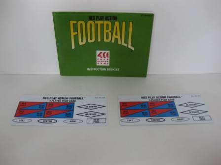 Play Action Football, NES w/ Play Cards - NES Manual