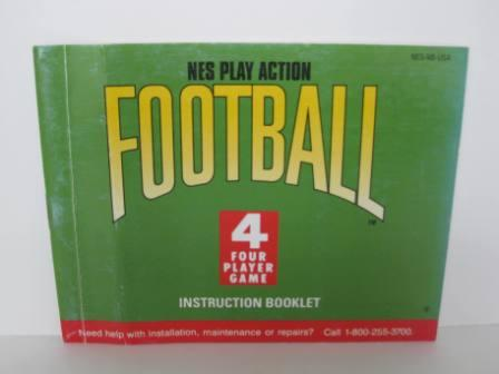 Play Action Football, NES - NES Manual