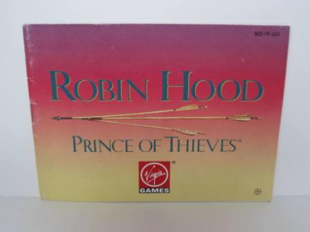 Robin Hood: Prince of Thieves - NES Manual