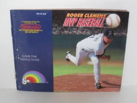 Roger Clemens MVP Baseball - NES Manual