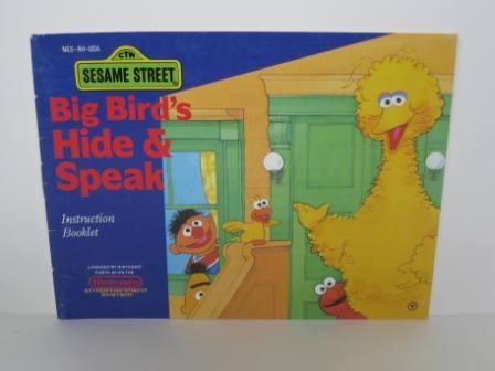 Sesame Street: Big Birds Hide & Speak - NES Manual