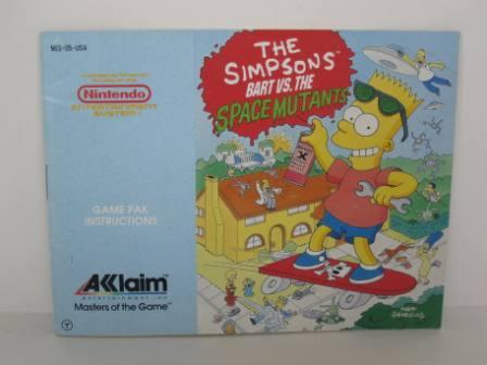 Simpsons, The: Bart vs. the Space Mutants - NES Manual