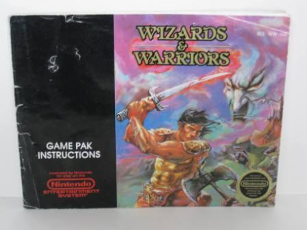 Wizards & Warriors - NES Manual