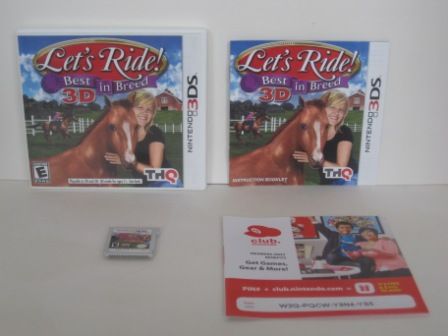Lets Ride! Best in Breed 3D (CIB) - Nintendo 3DS Game